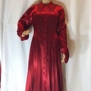 Jan Barboglio red button up maxi dress